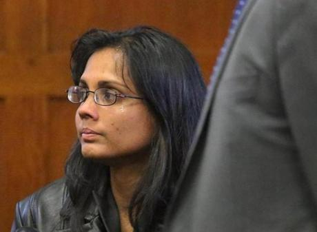 A tear ran down Annie Dookhan's cheek during the court hearing.